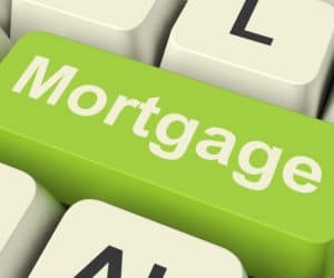 Mortgage Computer Key Shows Online Credit Or Borrowing